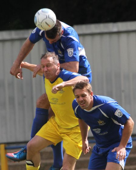 The St Albans City FC Legends Charity Match raised money for Youth Talk and Prostate Cancer UK. Pict