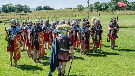 The Ermine Street Guard will reenact Roman battles. Picture: Michael Bradley