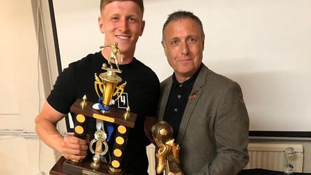 Dan Draper was a double-winner at Eynesbury Rovers awards bash recently. The midfielder claimed the