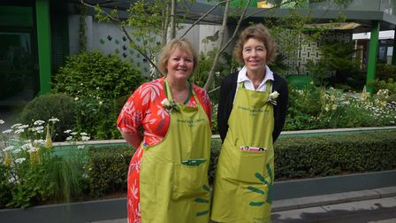 Linda Petrons - director of fundraising and communications at the Greenfingers Charity, and Sally Je