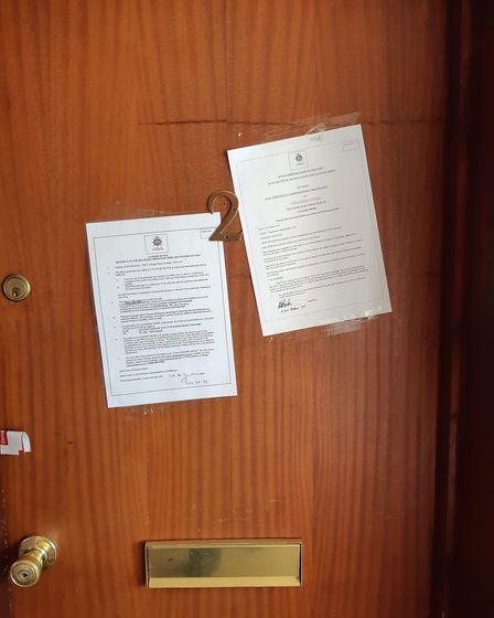 Officers have issued a closure order at a property in Kings Road, St Neots.