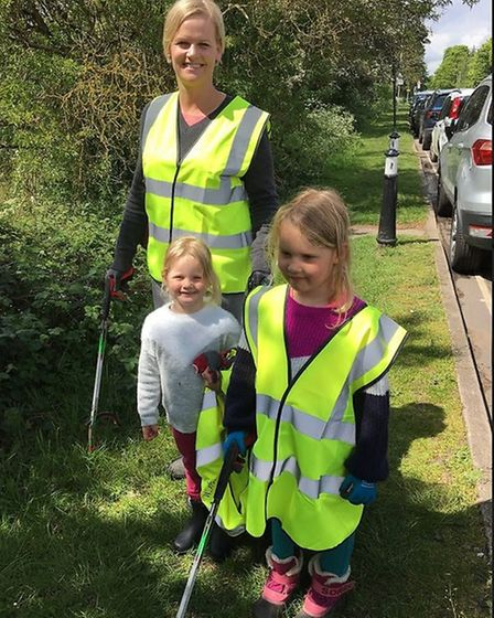 A litter pick on Harpenden Common. Picture: Submitted by Sustainable St Albans
