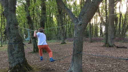 Building a rope bridge with the Woodcraft Folk. Picture: Submitted by Sustainable St Albans