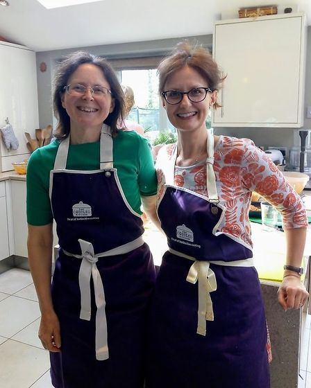 Catherine Ross and Danielle Durant at The Cobbled Kitchen Sustainable Cooking event. Picture: Submit