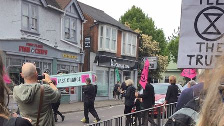 Extinction Rebellion took part in the St Albans Sustainability Festival Market Takeover event on Sun