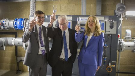Adrian Page, group chief executive of South Staffordshire Plc with board members the Rt Hon Lord Smi