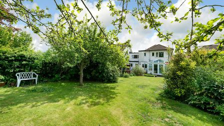 The large rear garden offers peace and seclusion. Picture: Bradford & Howley
