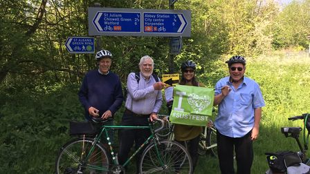 Sopwell Residents Association Bike Ride around the Alban Way. Picture: Submitted by St Albans Sustai