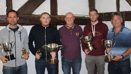 The Herts Advertiser Sunday League cup winners: Chris Gregory (Skew Bridge Rothamsted) - Knockout Cu