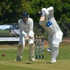 Eaton Socon captain Jonny Carpenter at the crease during their victory against Foxton. Picture: SIMO