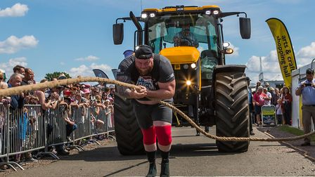 UK's Strongest Man made two record attempts at Hertfordshire County Show. Picture: Richard Washbrook