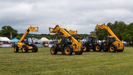 Heavy farming machinery performed a dance at Hertfordshire County Show. Picture: Richard Washbrooke