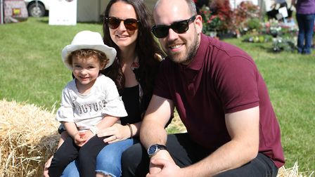 Herts County Show 2019 - Lauren, Matt and Willow, 2, ENJOY THE DAY OUT.Picture: Karyn Haddon
