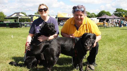 Herts County Show 2019 - The Thornton Family with dogs Buster and Rocky.Picture: Karyn Haddon