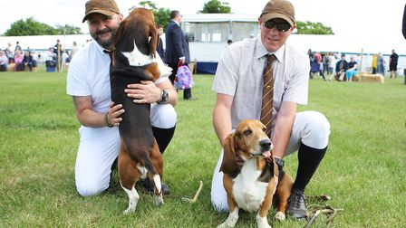 Herts County Show 2019 - Ben and Louis with the Albany Bassett's.Picture: Karyn Haddon