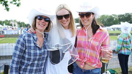 Herts County Show 2019 - Hen Party , Bride Jen Rees with Mum Debbie and Sister Hannah.Picture: Ka