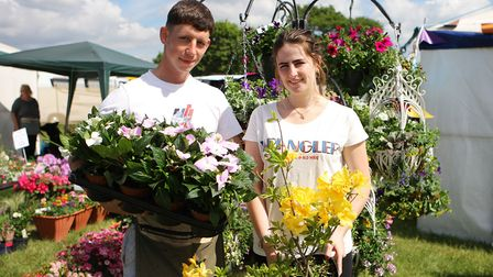 Herts County Show 2019 - Sam Brown and Mayzie Harvey, Four Acres Nursery.Picture: Karyn Haddon