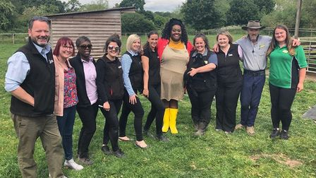 This Morning presenter Alison Hammond at Willows Activity Farm in London Colney.