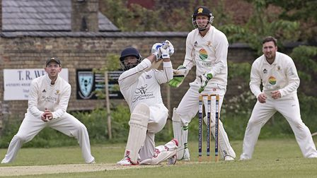 Shardul Brahmbhatt starred as March Town triumphed at Ramsey in the Cambs & Hunts Premier League. Pi