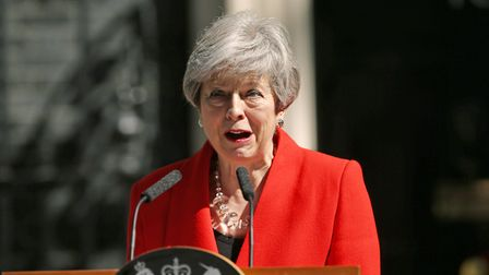 Prime Minister Theresa May makes a statement outside at 10 Downing Street in London, where she annou