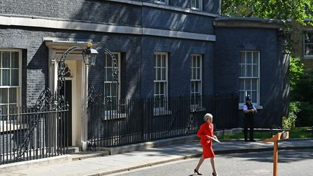 Prime Minister Theresa May making a statement outside at 10 Downing Street in London. Picture: Domin