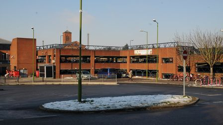 St Albans City station car park. Upper levels closed due to snow.