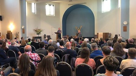 Green Party co-leader Jonathan Bartley at the St Albans Sustainability Festival talk. Picture: Green
