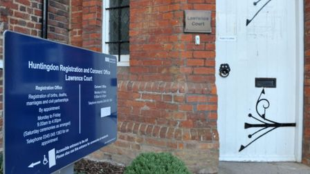 The inquest was held at Lawrence Court in Huntingdon