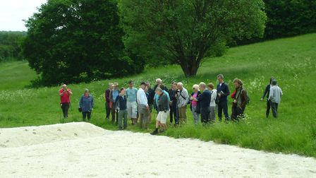 The launch event for the butterfly chalk bank in Chiswell Green. Picture: Mandy Floyd