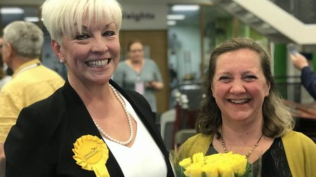 Liberal Democrat MEPs Barbara Gibson and Lucy Nethsingha. Picture: NEIL PERRY