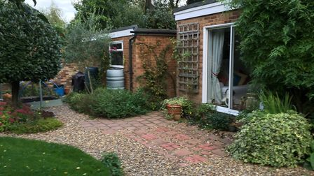 Before: The rear of the property at Barncroft Way, St Albans before work commenced. Picture: Scott B