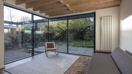 Scott chose to make a feature of the existing joists. Picture: Matt Chisnall (www.mattchisnall.com)