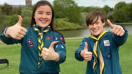 Lucy Watts and Flo O'Byrne from St Albans will both attend the European Scout Jamboree in Poland. Pi