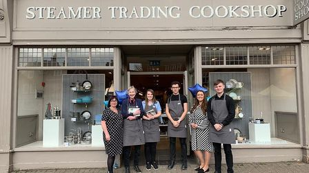 Staff from Steamer Trading in St Peter's Street, St Albans