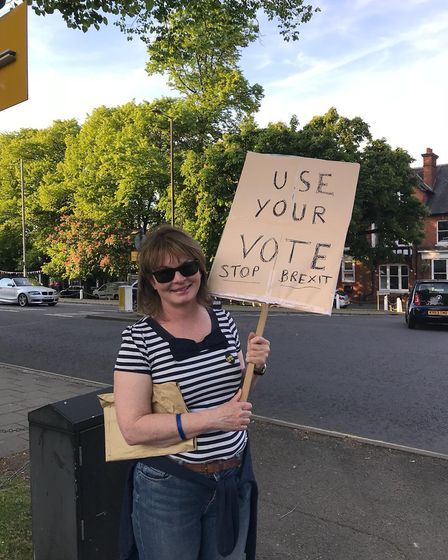 Activists campaigning ahead of the EU election on May 23. Picture: StAfE