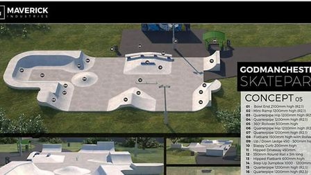 What the new skate park in Godmanchester will look like