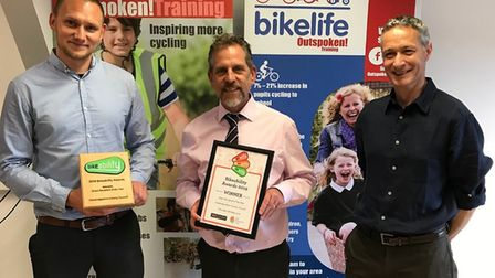 Left to right: John Stanley, Project Officer Cycling Projects, Mike Davies, Team Leader Cycling Proj