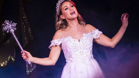 Rachel Stevens as the Fairy Godmother in last year's panto Cinderella at The Alban Arena in St Alban