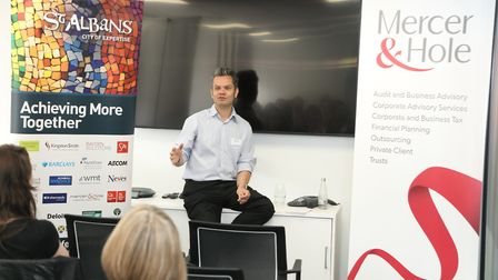St Albans Business Festival 2019 - Engaging with the Press with Matt Adams - photo by Spike Brown of