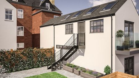 CGI of the private rear garden at 25c Alma Mews. Picture: Clarence Property Group