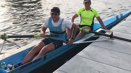 The St Neots Rowing Club duo of Dom Chapman (left) and Fergus Mitchell-Dwelly at the Ringvaart event