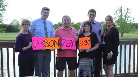 Allison Lewis, Adam Wright, from Energise, Cllr Paul Davies, Cllr Christine Green, Simon Alsbury and