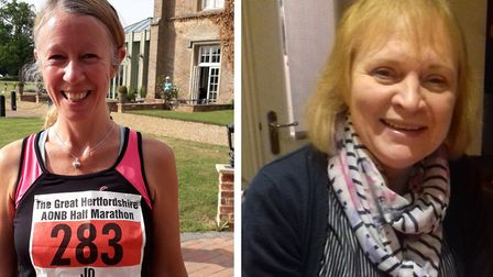 Arlesey's Jo Loach ran for Garden House Hospice Care in memory of Margaret MacCormack from Royston.