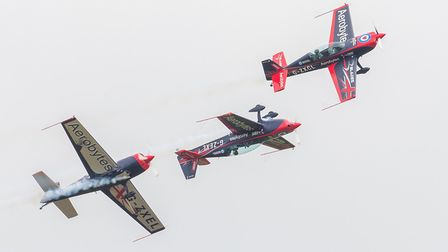 The Blades dIsplay team at the Duxford Air Festival 2019. Picture: Gerry Weatherhead