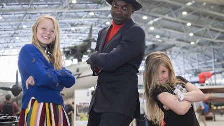 Beatboxer Randolph Matthews combined aeroplane sounds with visitors' voices at the 2019 Duxford Air