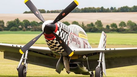 P-51 Mustang at the Duxford Air Festival 2019. Picture: Gerry Weatherhead