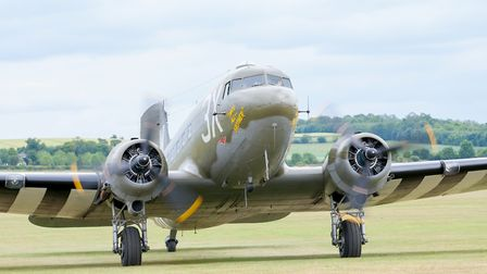 One of the Dakotas taking part in the Daks Over Duxford event at IWM Duxford. Picture: Gerry Weather
