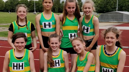 The Hunts AC Under 13 team starred in their East Anglian League opener. Picture: SUBMITTED