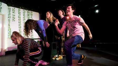 Rehearsal for the Cambridge Footlights International Tour Show 2019 Look Alive! Picture: Peter Minni