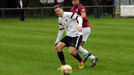 Lewis Endacott in action for Royston Town back in 2014. Picture: KEVIN LINES